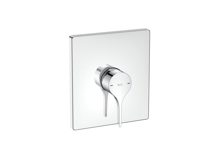 Mezclador monomando empotrable para ducha. A completar con RocaBox A525869403