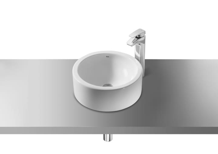 Lavabo de porcelana de sobre encimera lavabos sobre for Modelos de lavabos roca