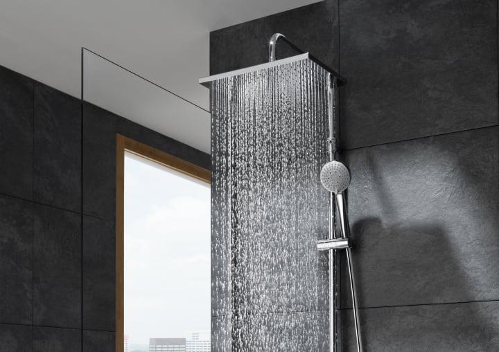 Duchas y columnas soluciones ducha colecciones roca for Griferias y accesorios para banos