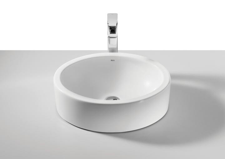 Lavabo de porcelana de sobre encimera lavabos sobre for Precios de lavabos roca