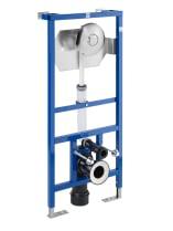 DUPLO WC FLUXOR - Bastidor empotrable para inodoro suspendido con fluxor de doble descarga incluido. Codo de 90 ø / 110 ø
