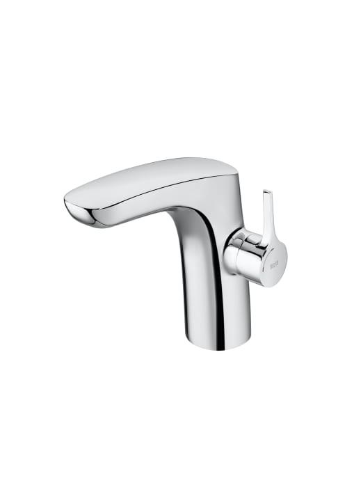 Mezclador monomando para lavabo con cuerpo liso y desagüe click-clack, Cold Start