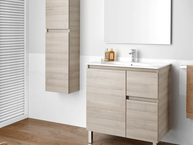 Soluciones lavabo y mueble colecciones roca - Muebles para lavabo con pedestal ...