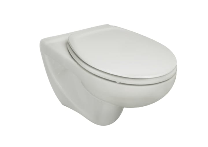 Inodoro de porcelana suspendido con salida a pared for Inodoro modelo victoria
