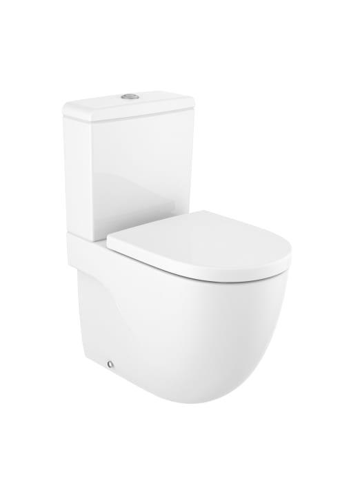 Inodoro compacto adosado a pared con salida dual cisterna for Inodoros de roca