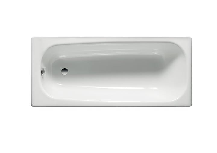 Bañera de acero rectangular