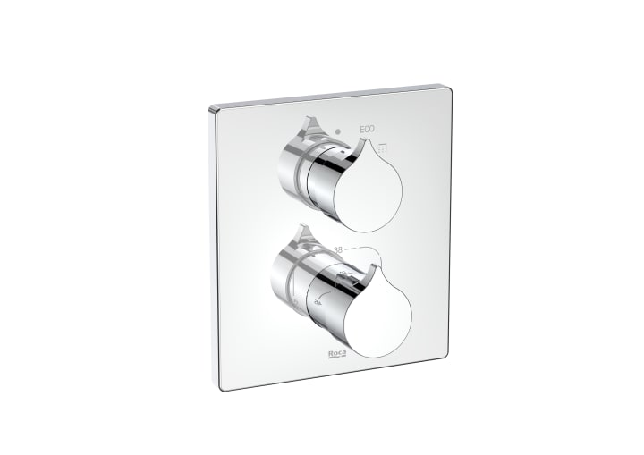 Mezclador termostático empotrable para ducha. A completar con Rocabox A525869403