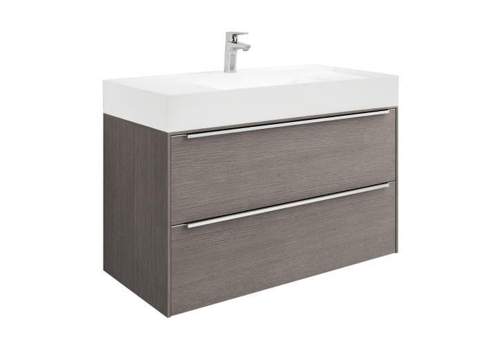 Unik (mueble base y lavabo de FINECERAMIC®)