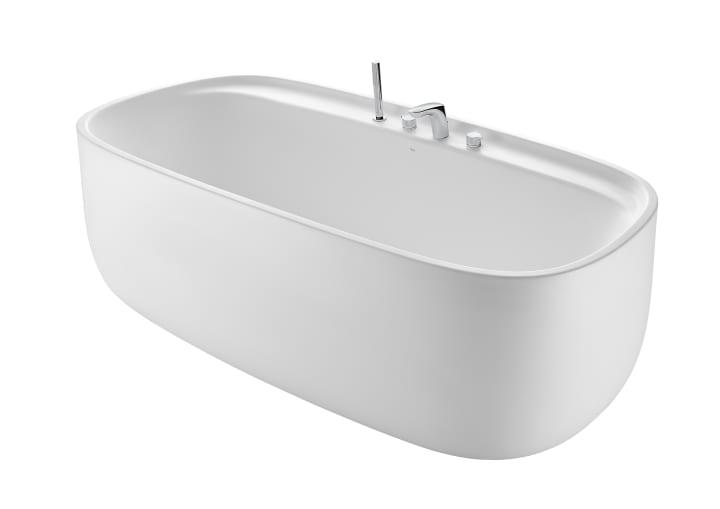 Bañera de SURFEX® oval con agujeros para grifería con desagüe