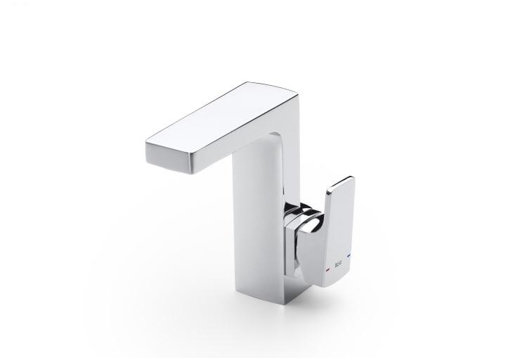 Mezclador monomando para lavabo con maneta lateral y desagüe automático, Cold Start