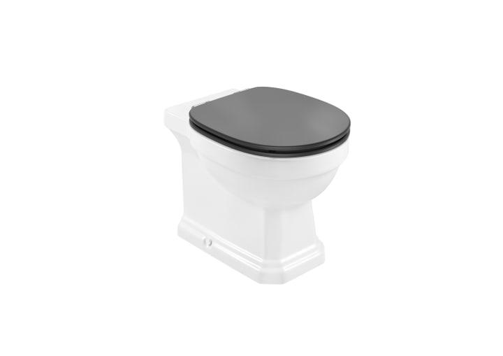 Inodoro Rimless con salida dual (incluye taza y tapa amortiguada de color gris oscuro)