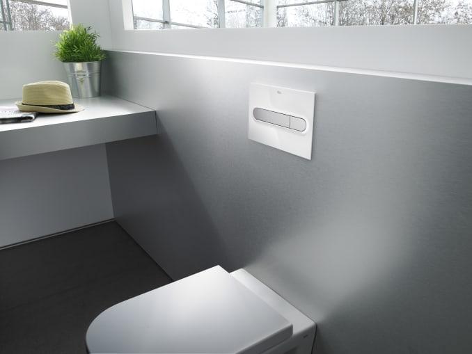 Pl1 dual placa de accionamiento con descarga dual in - Instalacion inodoro suspendido ...