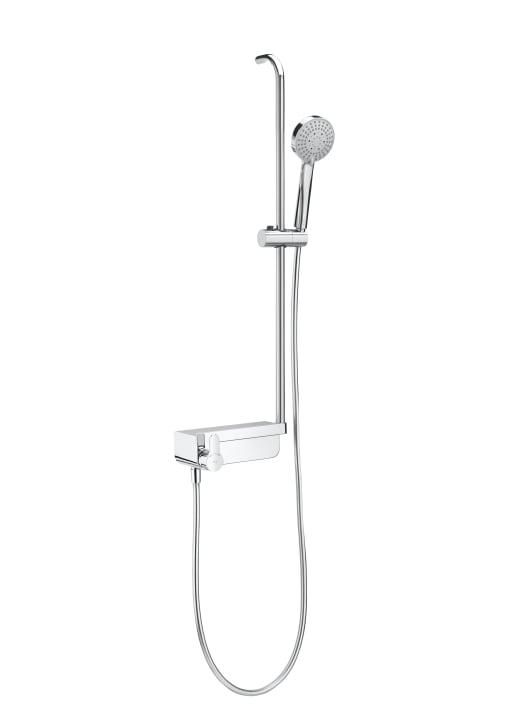 Columna de ducha monomando con repisa columnas de ducha for Monomando para ducha