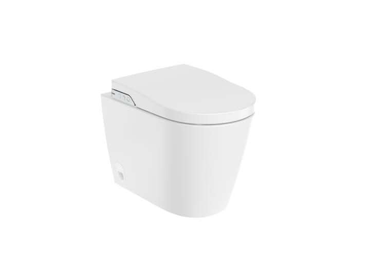 In-Wash® - Smart toilet adosado a pared Rimless para tanque empotrable. Incluye tapa y asiento. Necesita toma de red.