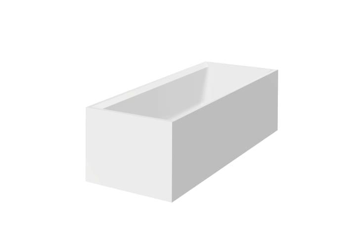 Bañera de SURFEX® rectangular con juego de desagüe