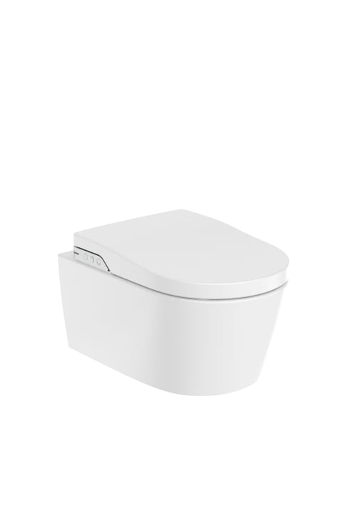 In-Wash® - Smart toilet suspendido Rimless con salida a pared. Incluye tapa y asiento. Necesita toma de red.