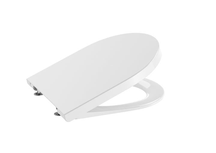 ROUND - Tapa y asiento de SUPRALIT ® para inodoro compacto con caída amortiguada