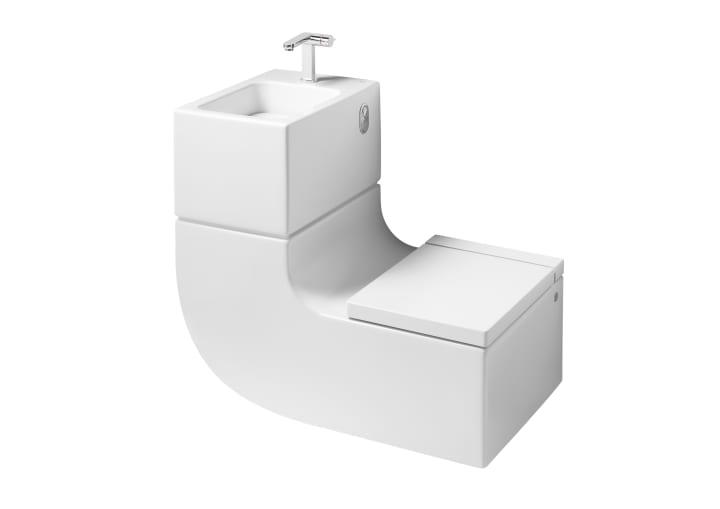 Inodoro y lavabo suspendido (incluye tapa y grifería de lavabo)