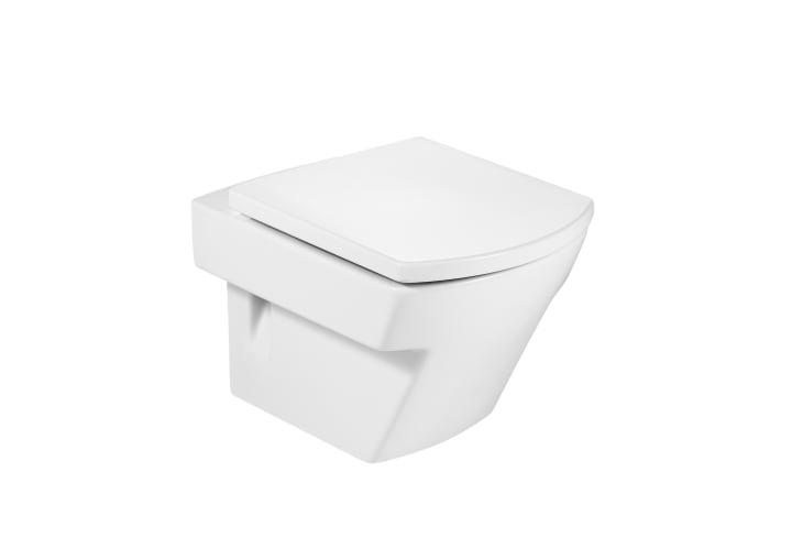 Inodoro de porcelana suspendido compacto con salida a - Roca hall inodoro ...