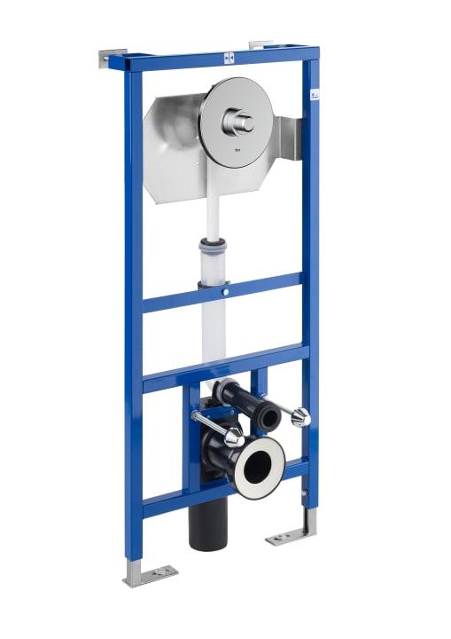 DUPLO WC FLUXOR SINGLE - Bastidor empotrable para inodoro suspendido con fluxor de doble descarga incluido. Codo de 90 ø / 110 ø
