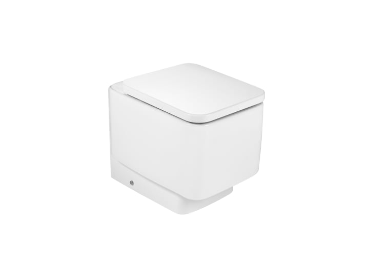 Inodoro de porcelana con salida dual inodoros de tanque for Inodoro roca eos