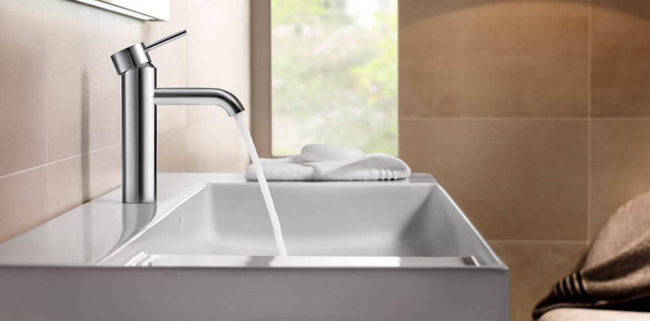 Grifería sostenible para lavabo Lanta de Roca