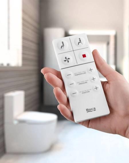 Mando de Smart Toilet de Roca con diseño intuitivo
