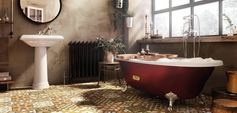 Baño de estilo clásico con productos Roca