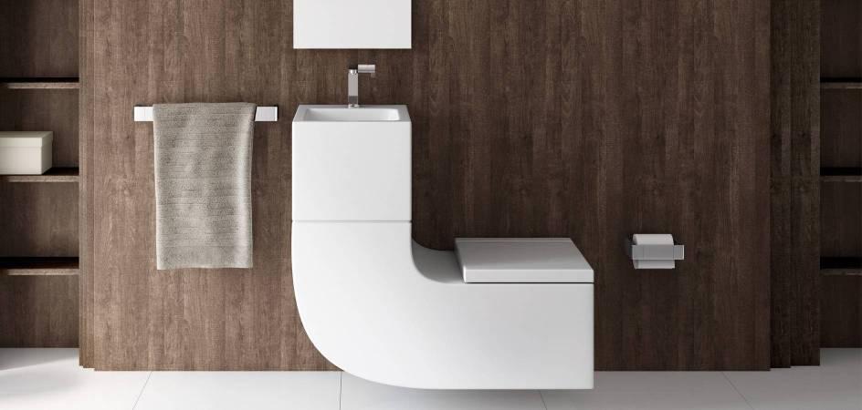 W+W, lavabo e inodoro en un producto