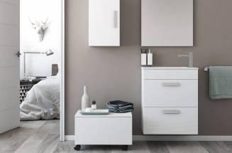 Baño moderno y funcional con productos Roca