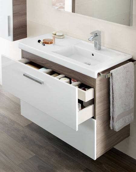 Mueble de baño Prisma con repisa integrada