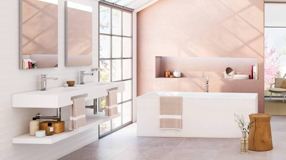 Colección a medida de bañera, plato de ducha y lavabo, Modo de Roca