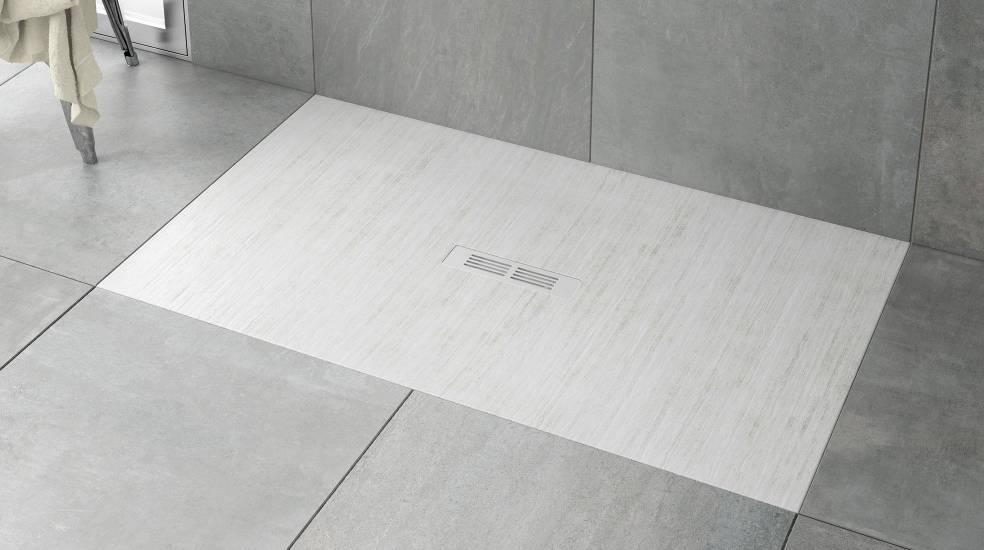Plato de ducha Stonex extraplano de Roca
