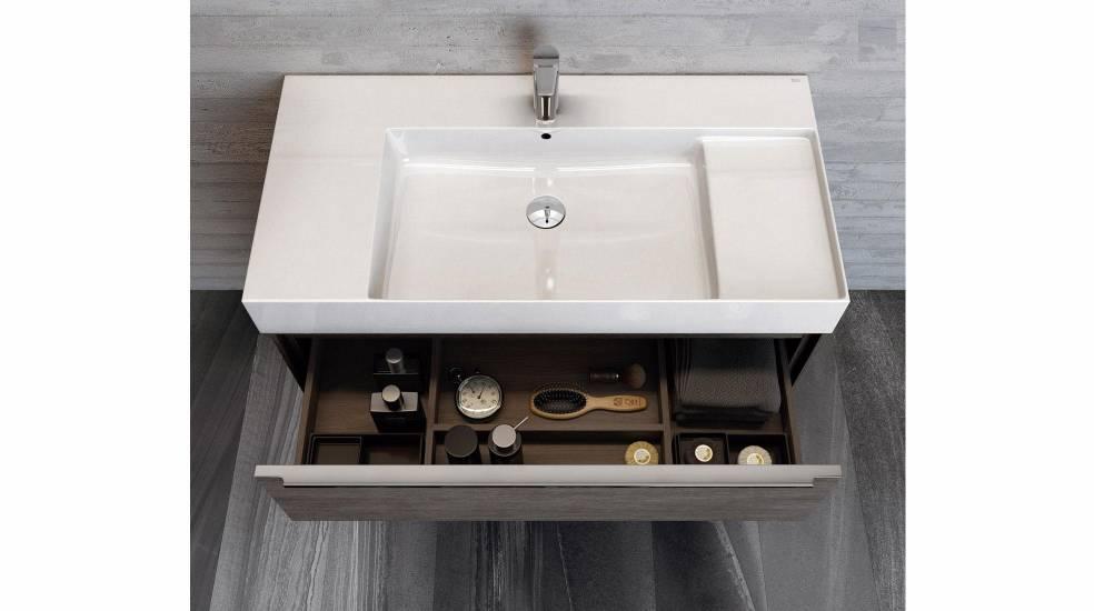 Mueble con lavabo integrado de la colección Inspira de Roca