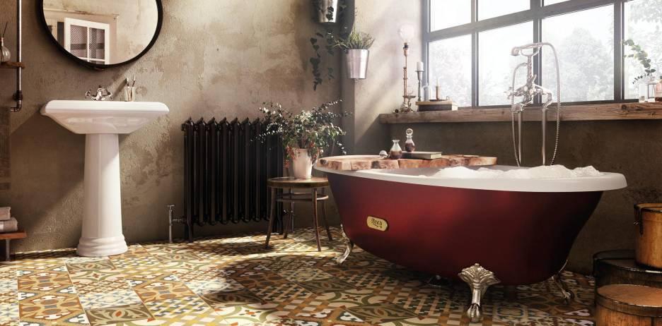 Bañera de hierro fundido Newcast de Roca