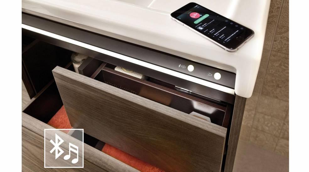 Mueble con altavoces Bluetooth incorporados de Roca