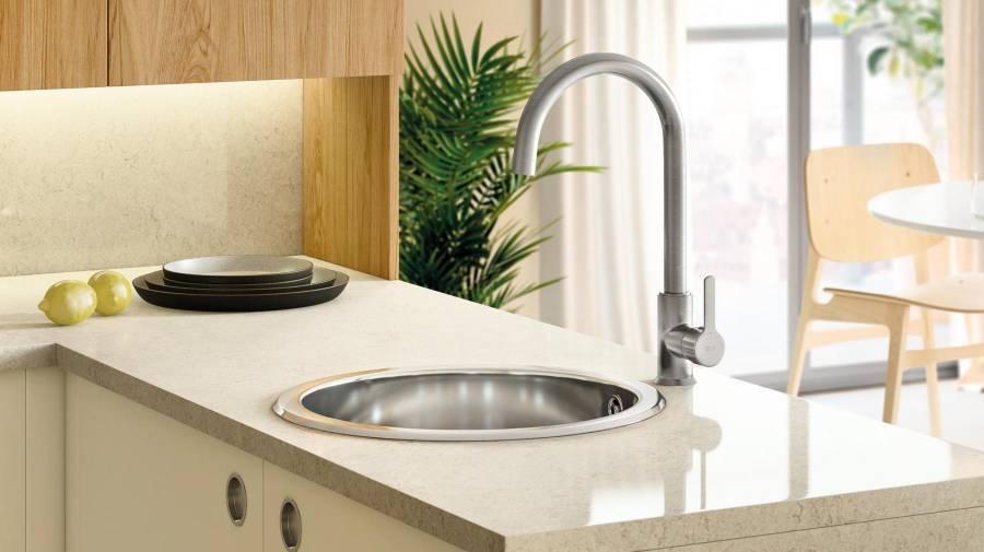 Mencia Kitchen Faucet Titanium