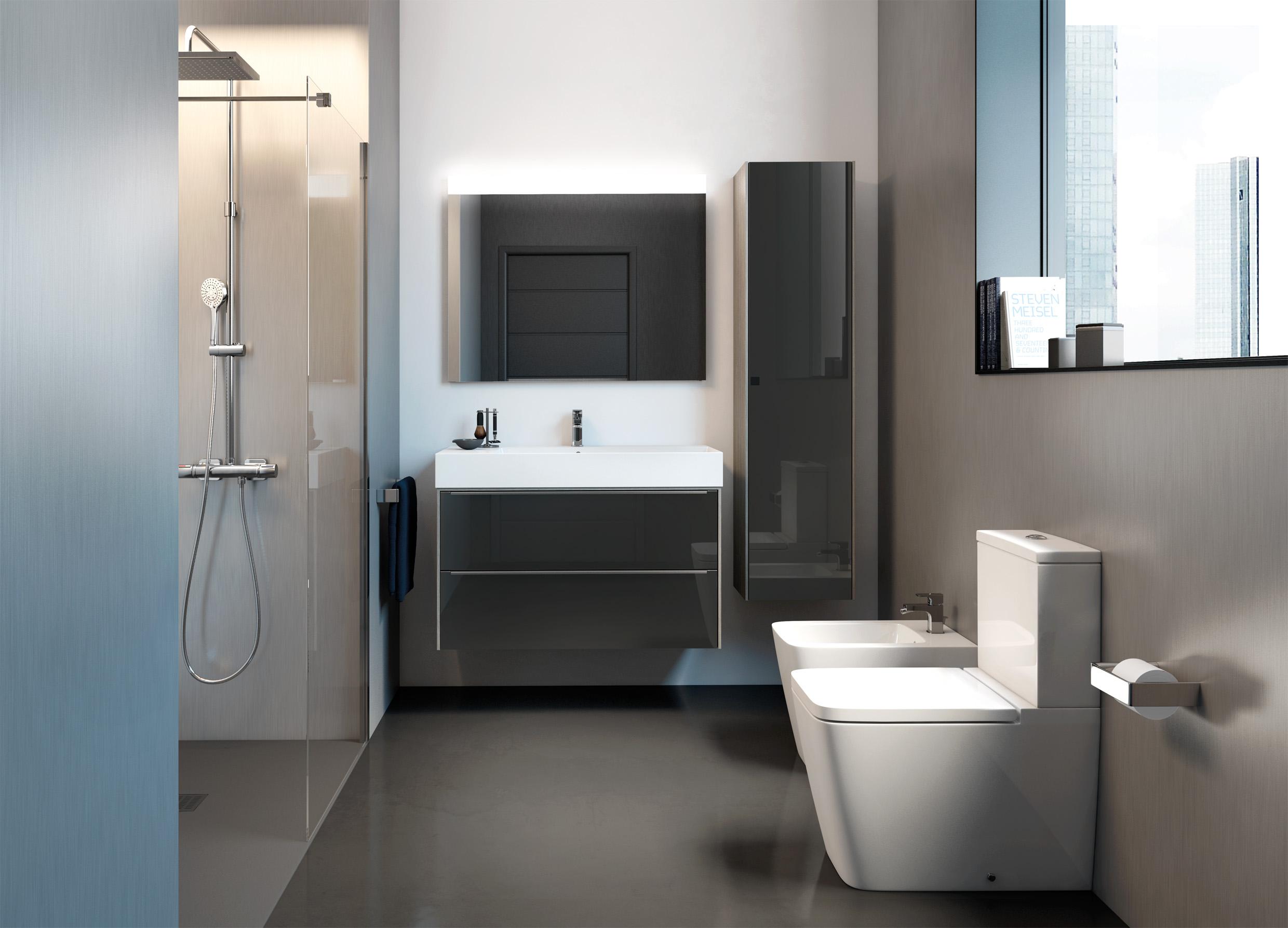 Multiplica el almacenaje instalando muebles de baño auxiliares