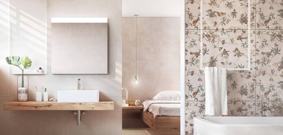 Azulejos de baño o cocina que simulan papel pintado